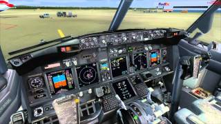 PMDG 737 NGX Pro-ATC/X Takeoff in Cologne (from Cold And Dark state)