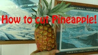 How to cut Pineapple dice and slice
