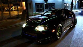 THE WORLDS FIRST NEON 800HP SUPRA! Shootin Flames In Public