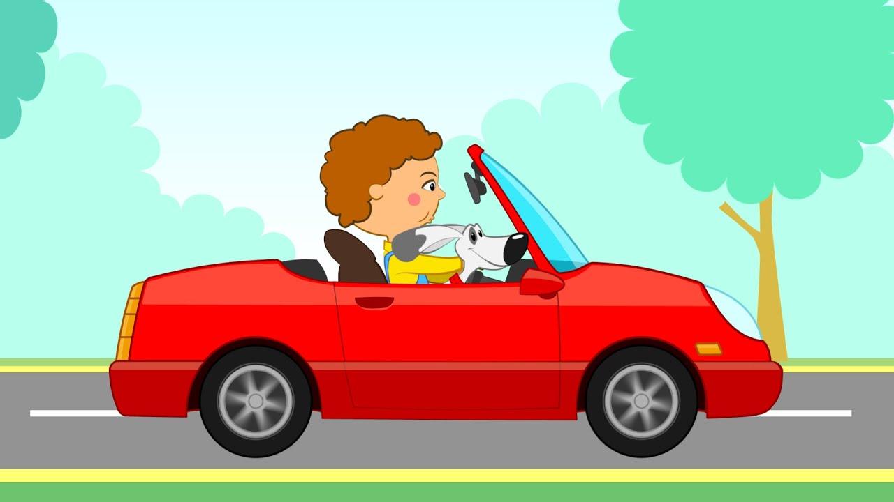 Картинка дети едут на машине