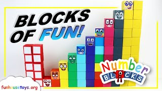 New Numberblocks 11, 12, 13, 14, 15, 16, 17, 18, 19, and 20 | Counting|FunHouseToys | Learn to Count