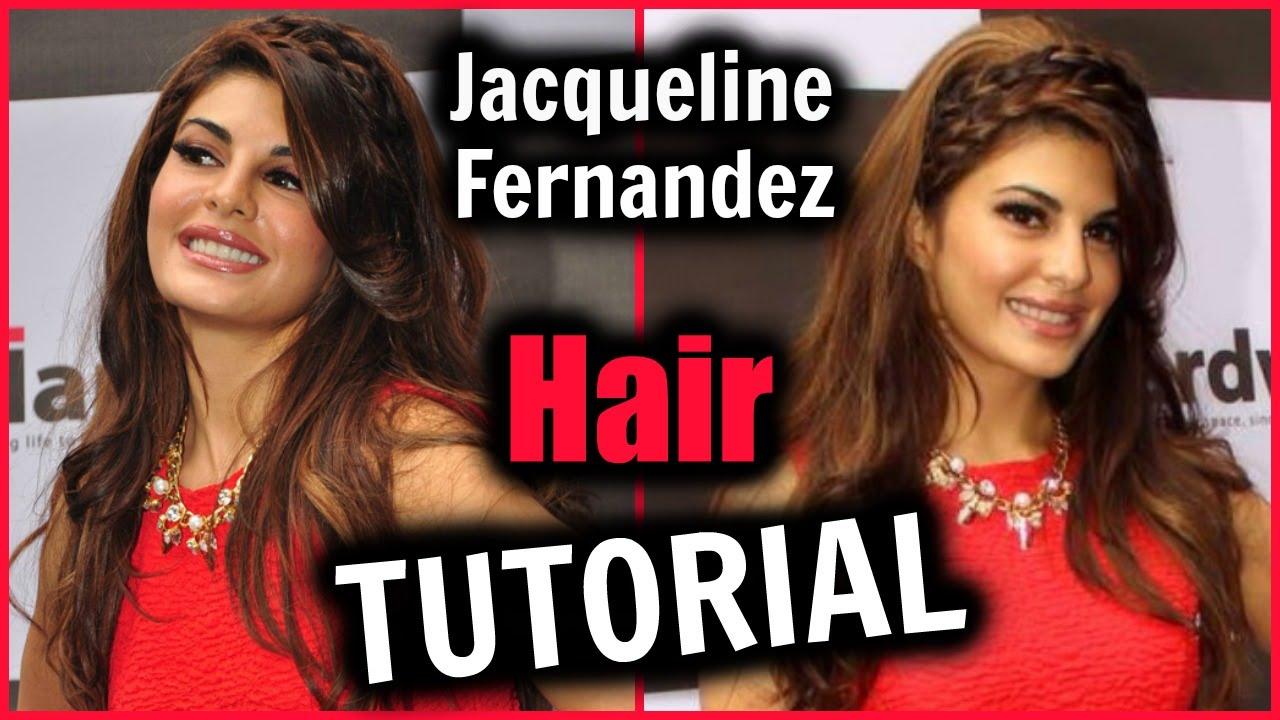Easy Jacqueline Fernandez Hair Tutorial Bollywood Glam Hair