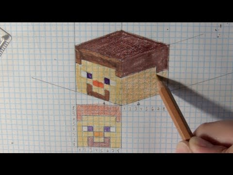 wie zeichnet man minecraft 2d 3d tutorial online. Black Bedroom Furniture Sets. Home Design Ideas