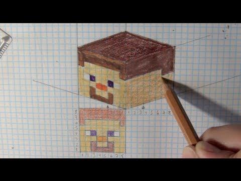 wie zeichnet man minecraft 2d 3d tutorial online zeichnen lernen youtube. Black Bedroom Furniture Sets. Home Design Ideas
