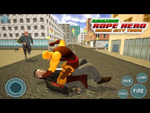 Super Vice Town Rope Hero Crime Simulator | Rope Hero Help To Safe City | Android GamePlay FullHD