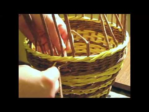 Basket. How to make the edging.  Part 7.