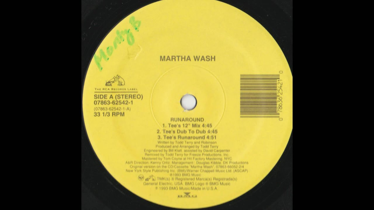 Martha Wash - Runaround / Carry On (The Todd Terry Remixes)