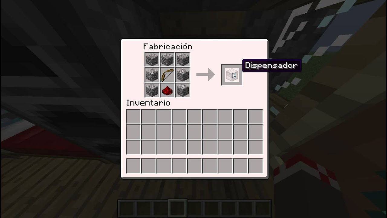 Como hacer un dispensador en minecraft 1 5 2 facundo for Como hacer muebles en minecraft