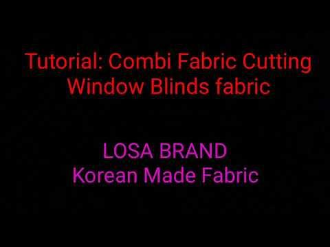 Window Blinds Fabric cutting Tutorial.