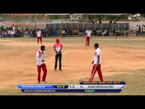 NASH BENGALURU VS SHOCKERS HASSAN MATCH  NARENDRA MODI CUP 2017, BANGALORE