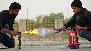 FLAME THROWER VS FIRE EXTINGUISHER