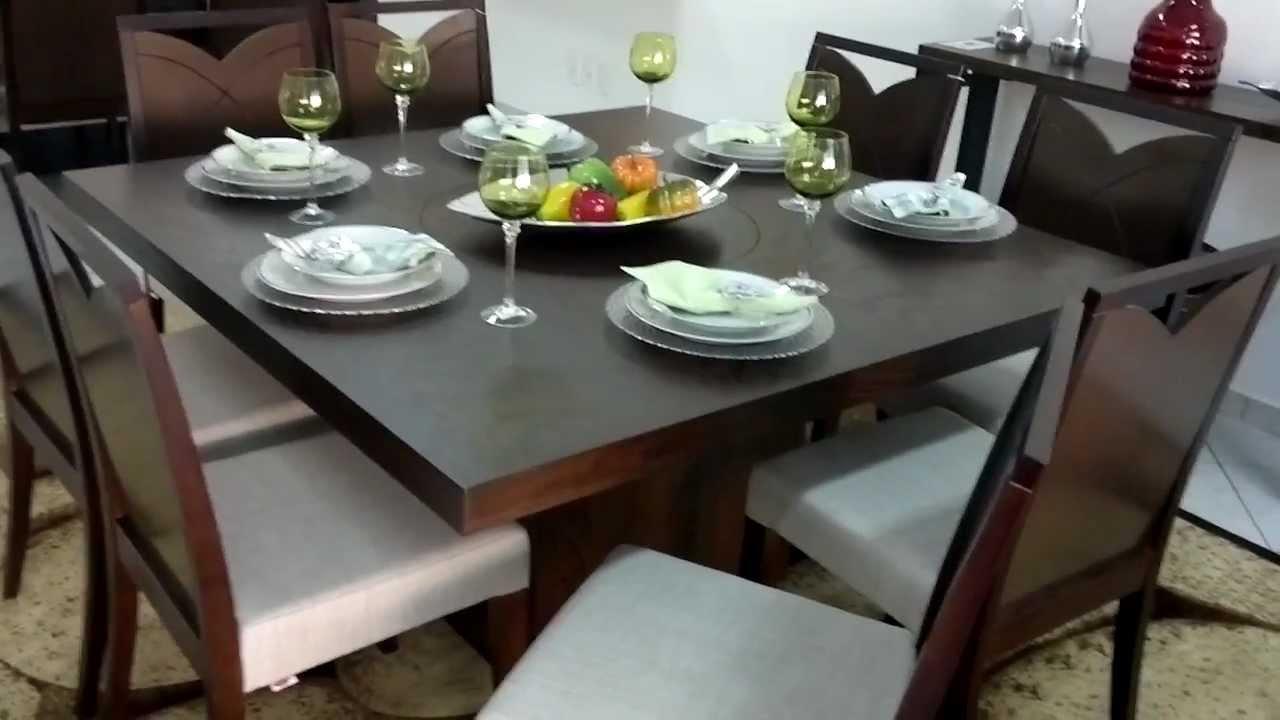 Comprar Sala De Jantar Herval ~ MESA DE JANTAR 8 LUGARES  HERVAL CAZABELLA DESIGN  YouTube