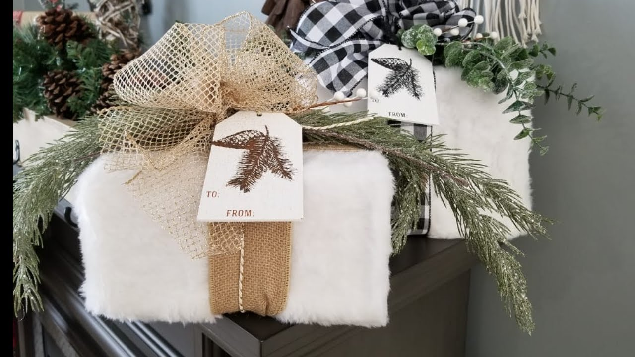 How-To Make Faux Fur Wrapped Gifts - Christmas Decor