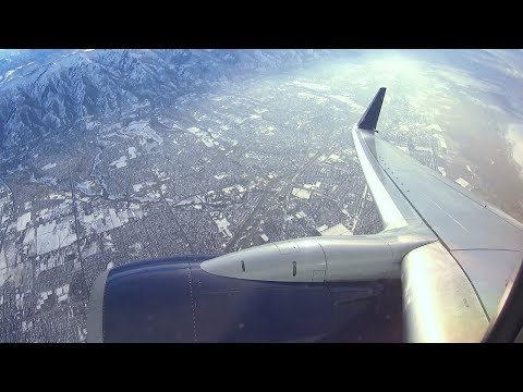 Delta 737-800 - Cold Winter Takeoff from Salt Lake International Airport