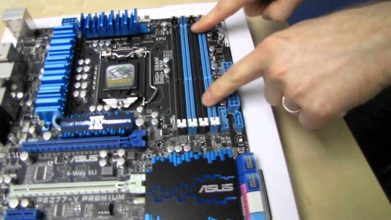 ASUS P8Z77-V Premium Thunderbolt 4-way SLI Motherboard Unboxing & First  Look Linus Tech Tips