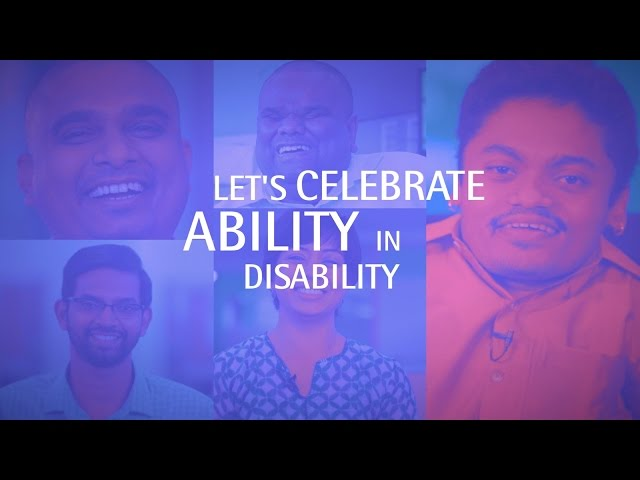 Celebrating the Ability in Disability      Shining a spotlight on our Persons with Disabilities - YouTube