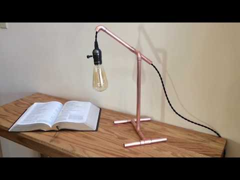DIY Steampunk Industrial Style Copper Table Lamp