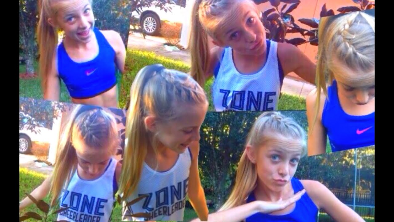 How To: French Braid Cheer Hair - YouTube - Cheerleading Hairstyles