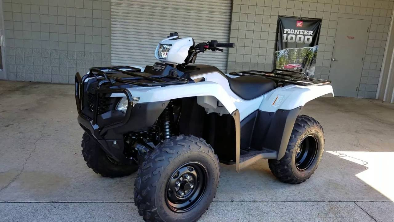 2017 Honda Foreman 500 4x4 ATV (TRX500FM1H) Walk-Around Video | White |  Review @ HondaProKevin com