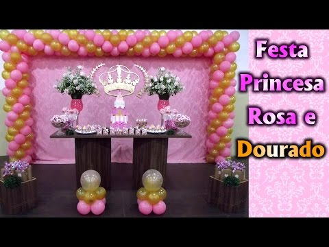 Party Decoration Theme - Pink and Gold Princess - Rustic - Children's Birthday - Party Kids / Ideas