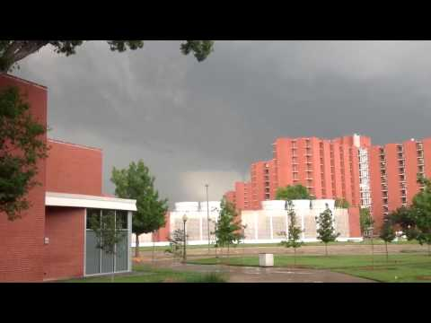 Second Tornado Siren Goes off during CBSB13 conference- rotating clouds