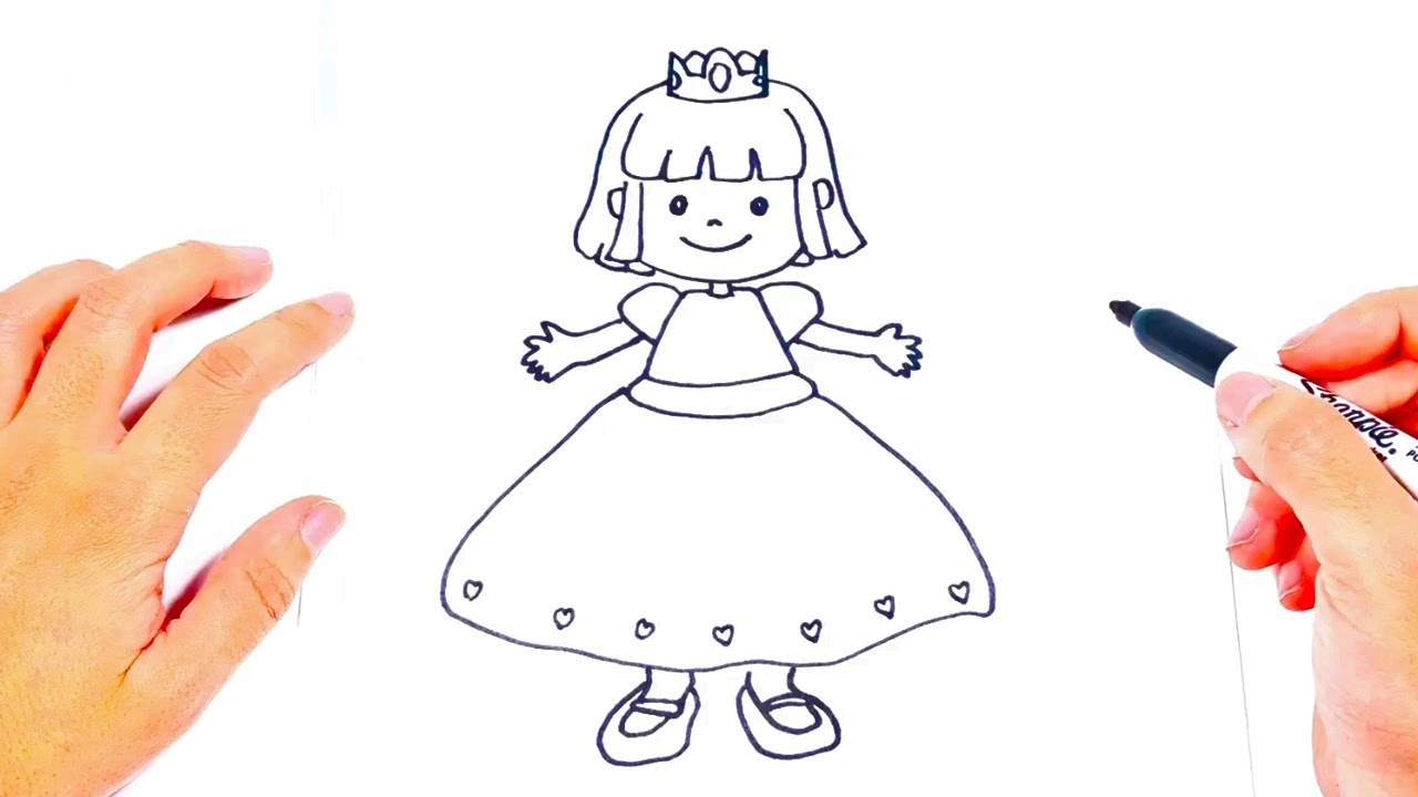 How To Draw A Princess Learning Drawing For Kids Youtube