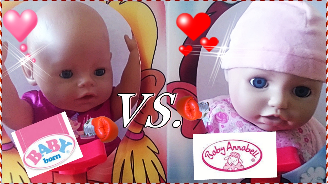 Baby Born Vs. Baby Annabell /Pie Face Duell - YouTube