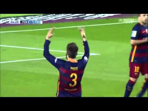 Barcelona vs Valencia (1-2) All Goals Sky Sport Commentary 2015/2016