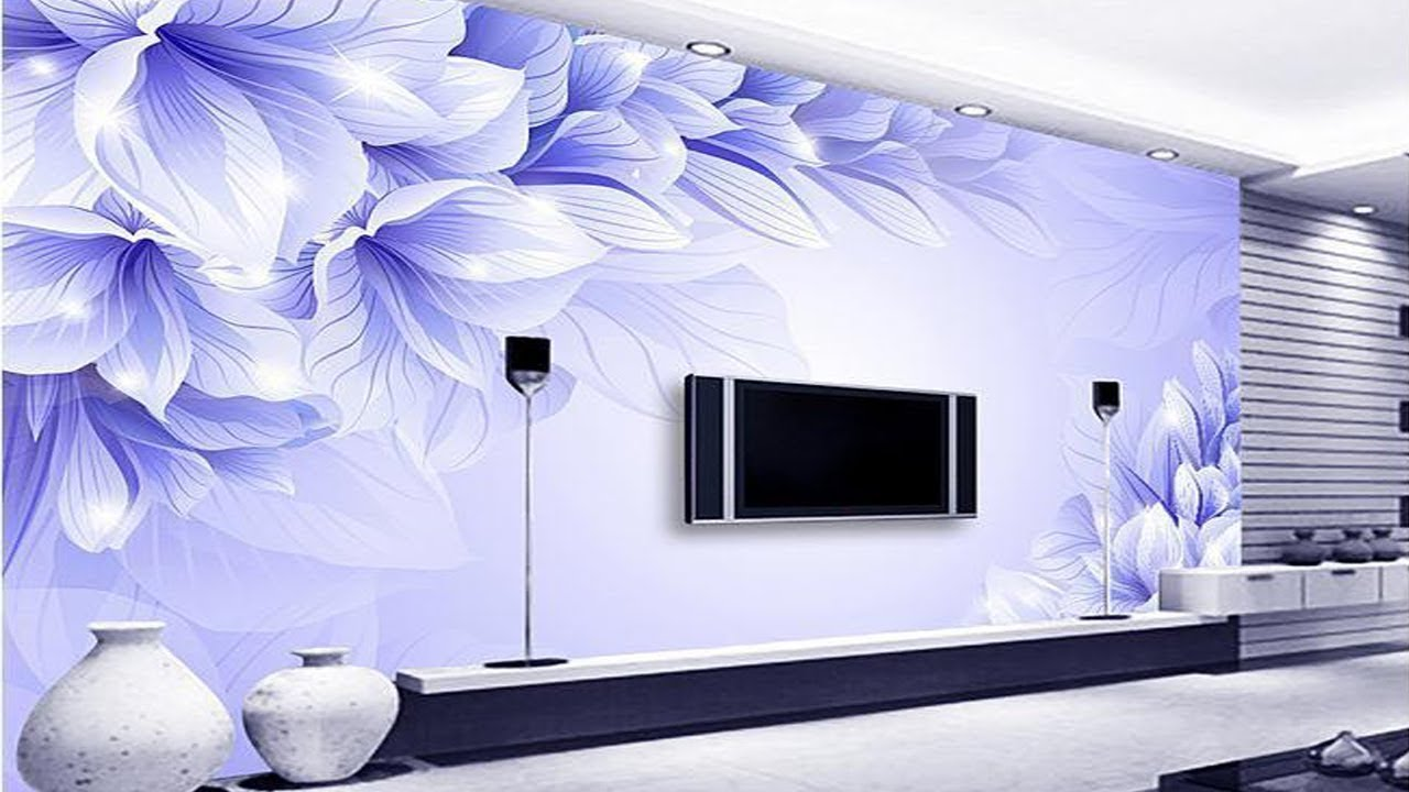 Top 50+ Tv Wall decoration Ideas | 3D Wallpaper for TV ...