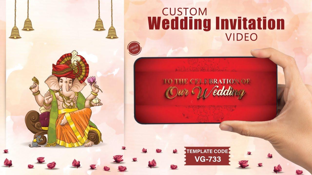 Custom Wedding Invitation Video for Whatsapp 2018 | VG-733 Updated ...