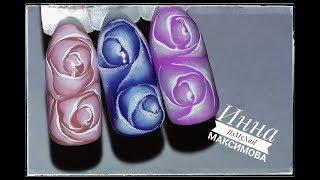 🌸 нежные РОЗЫ на ногтях 🌸 РОЗЫ в АКВАРЕЛЬНОЙ технике 🌸 Дизайн ногтей гель лаком 🌸