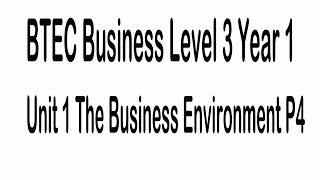business environment p3 p4 unit 1