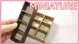 더 간단한 미니어쳐 나무 책꽂이  Miniature W…