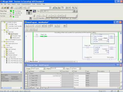 06. Counters, Timers and Reversing on CompactLogix - PLC Training on Allen-Bradley Rockwell