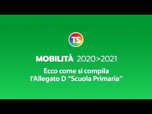 Mobilità 2020/2021, ecco come si compila l'Allegato D