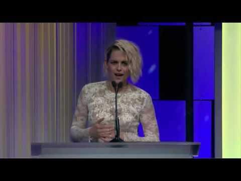 Kristen Stewart Presenting Award to Catherine Hardwicke