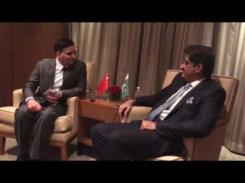 Sindh CM SYED MURAD ALI SHAH an interview to CHINA Radio (sot 2)