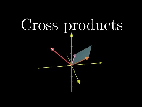 Cross products | Essence of linear algebra, Chapter 8