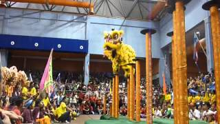 YICK NAM LION DANCE TEAM B - LIKAS STADIUM (18JAN 2014)