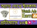 Make money from Watching Ads In Bitcoin Earn 1350 ...