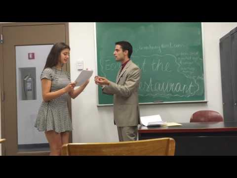 My Play 'Early at the Restaurant' - Acting in class (Actor/Playwright: Rodrigo Baumgartner Ayres)