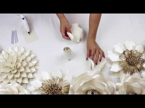 DIY Paper Rose Tutorial - My Wedding Backdrop Flowers
