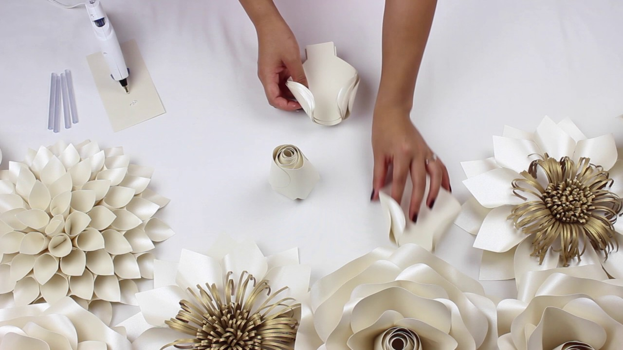 Diy paper rose tutorial my wedding backdrop flowers youtube diy paper rose tutorial my wedding backdrop flowers mightylinksfo
