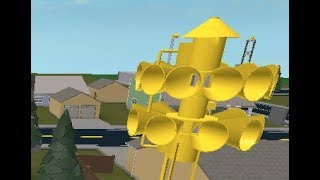 ROBLOX Tornado Siren #4: Federal Signal 3T22B At Siren Suburb, Alert, Hi-Lo, Attack & Growl