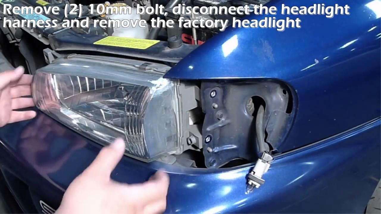 hight resolution of specdtuning installation video 1995 2001 subaru impreza headlights youtube