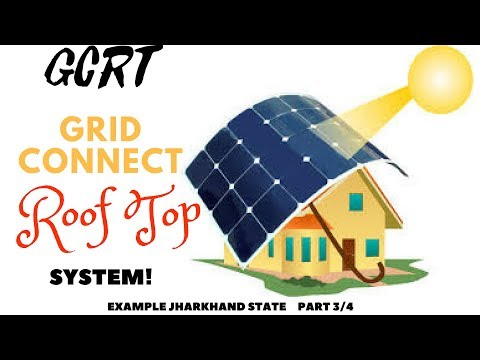 Grid tied roof top solar system ,product and policy - jharkhand - Part 3/4