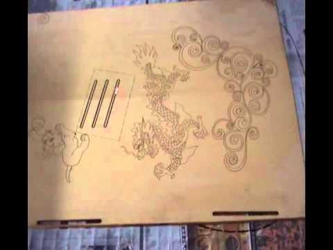 DIY wood Guitar marking