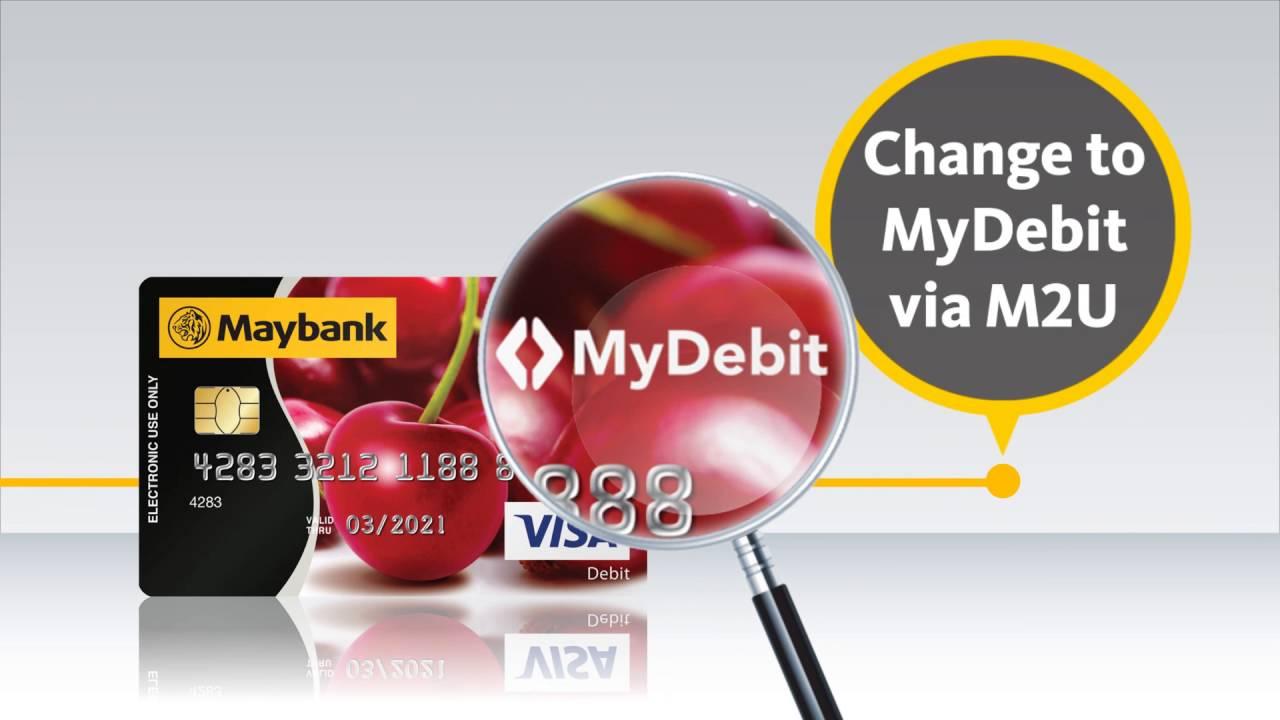 Debit Card Replacement To Mydebit Card Via Maybank2u Youtube