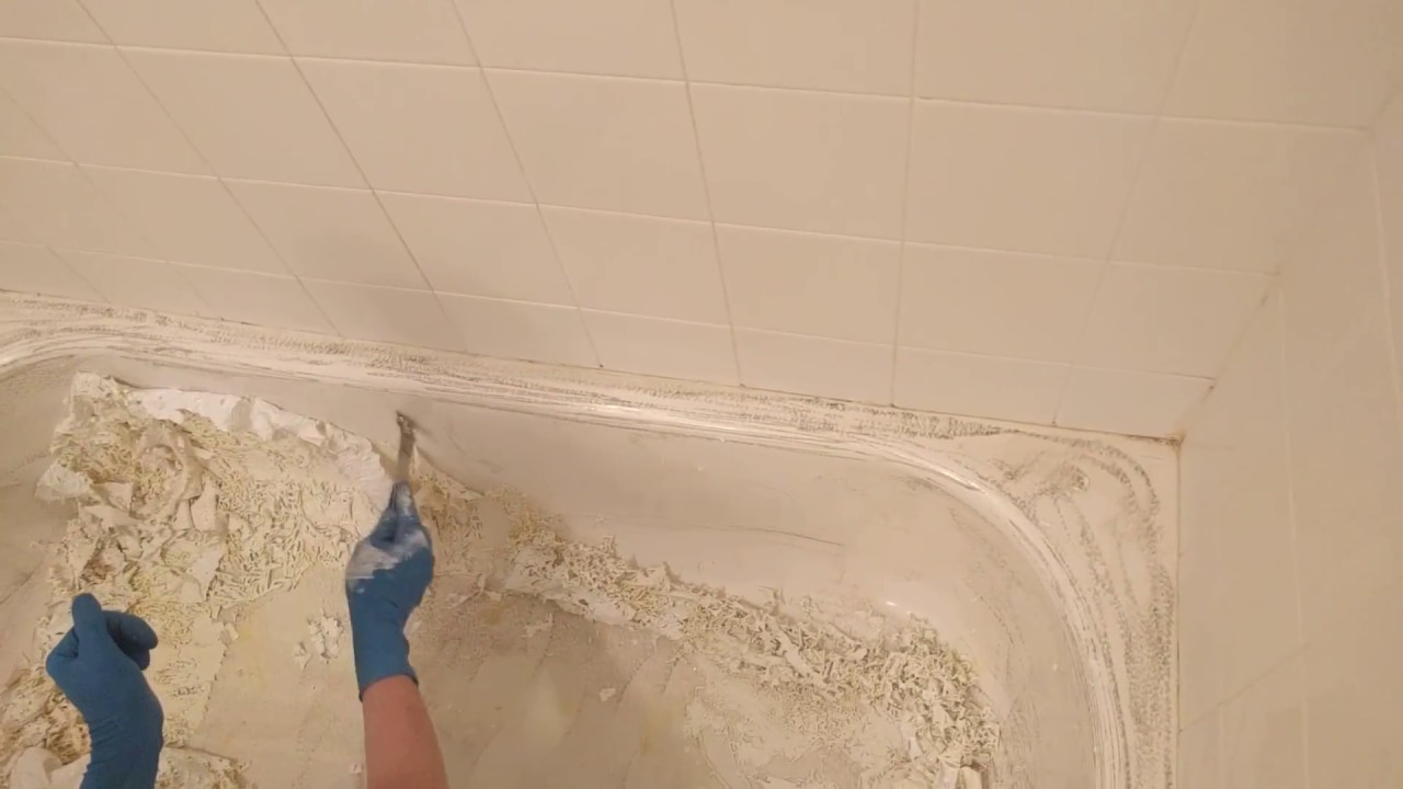 Porcelain Refinishing Co., Denver Stripping Old Finish From A Tub