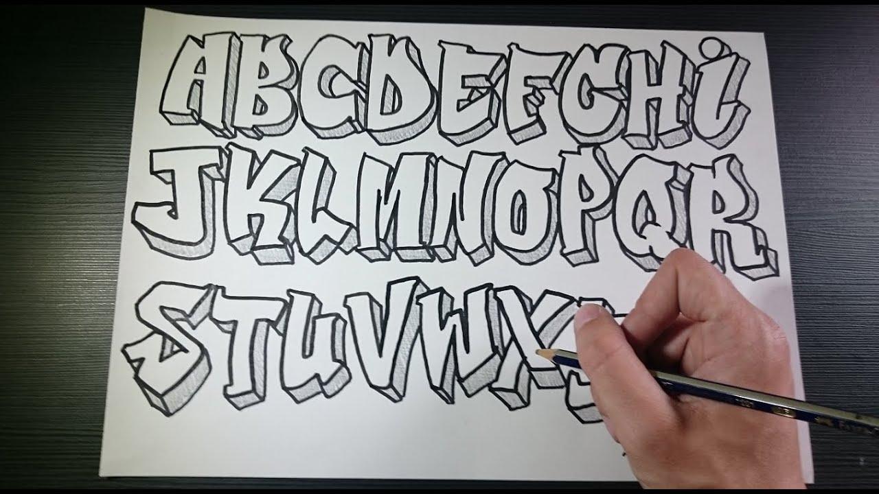 Graffiti alphabet 2 speed art youtube - Lettre graffiti alphabet ...